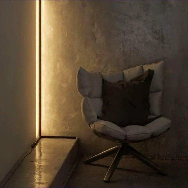 دکور خانه با لامپ corner floor