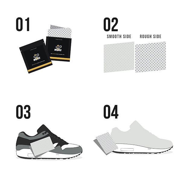 نحوه استفاده تمیزکننده کفش کرپ Wies