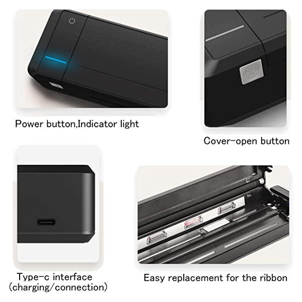 جزئیات مختلف از پرینتر پرتابل مدل MT800