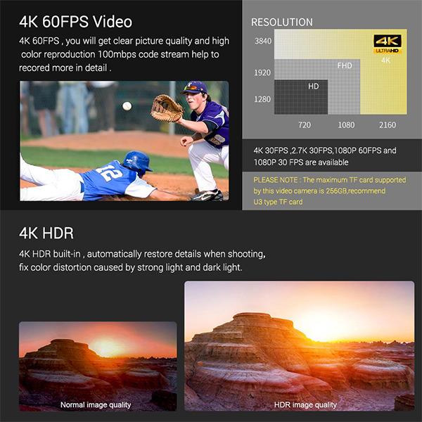 دوربین ولاگری با رزولوشن 4k