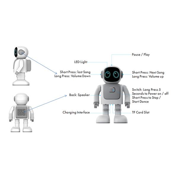 جزییات ربات بلوتوثی Robert