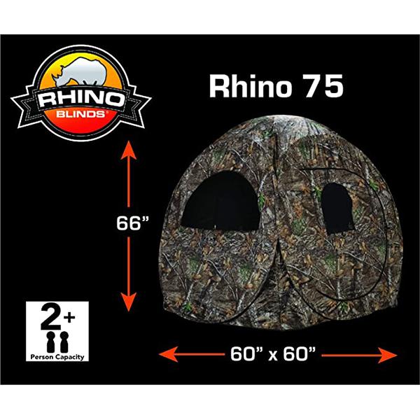 ابعاد چادر مسافرتی 2 نفره Rhino مدل R75